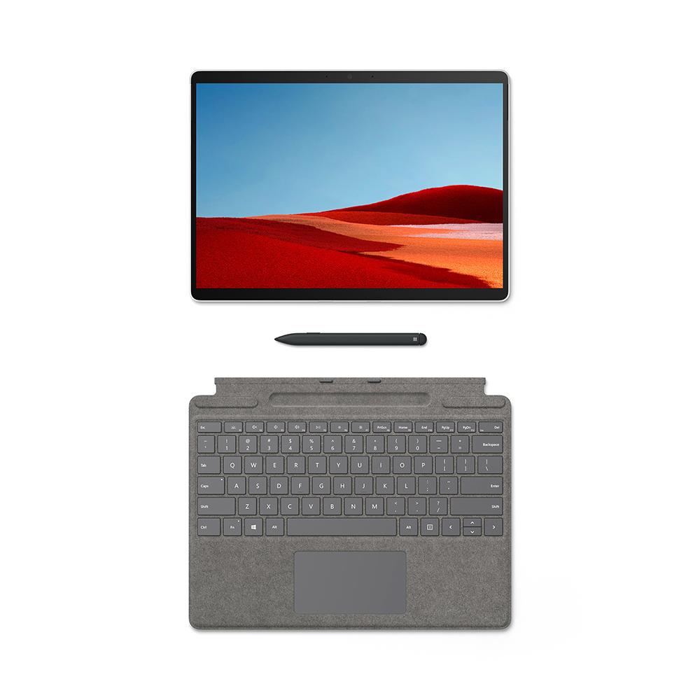 마이크로소프트 서피스 프로X 플래티넘 노트북 1WT-00008 (SQ2 33cm WIN10 Home) + 플래티넘타입 커버 + 슬림펜, 윈도우 포함, 256GB, 16GB
