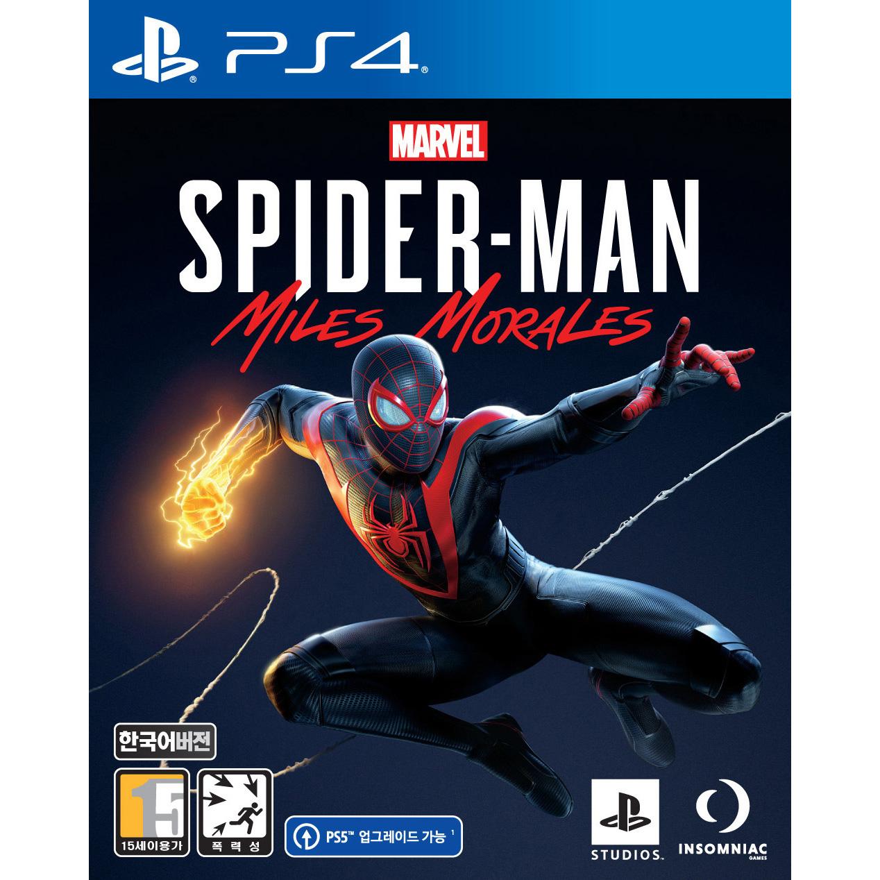 PS4 마블 스파이더맨 마일즈 모랄레스, 단일상품