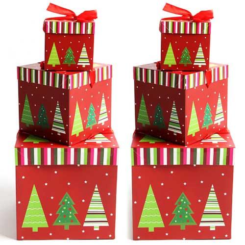 파티해 크리스마스 3단 선물상자 세트, 트리, 2세트