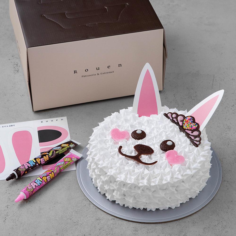 후앙 동물 케익 만들기 2호 토끼와 곰, 537g, 1개