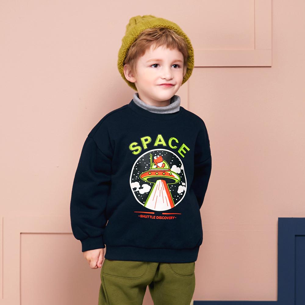 마리앤모리 아동용 스페이스 다이노 기모 티셔츠