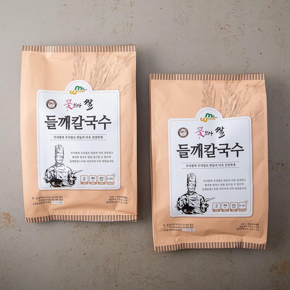 꽃보다쌀 들깨칼국수, 368g, 2봉-4-4314549244