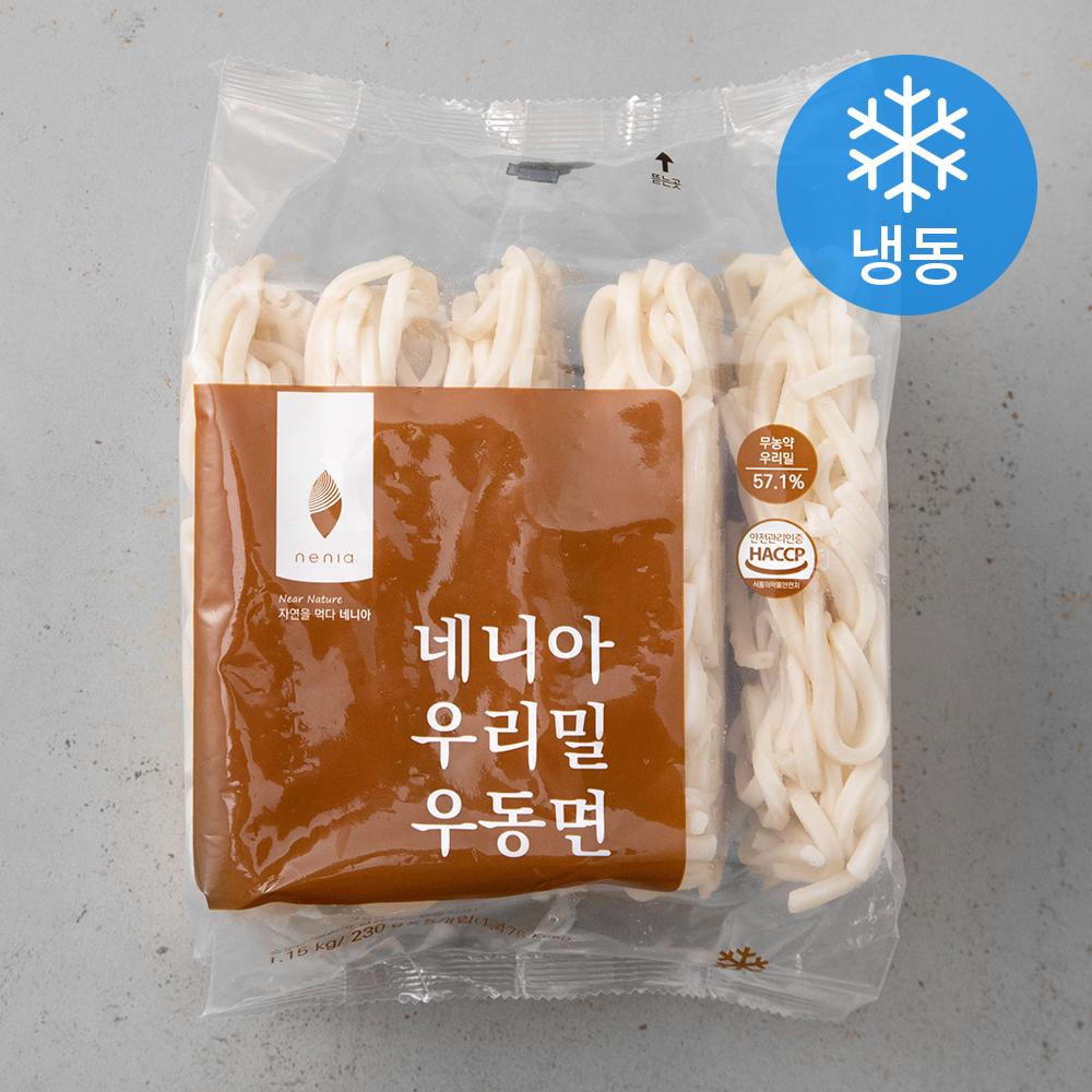 네니아 우리밀 우동면 (냉동), 1.15kg, 1개