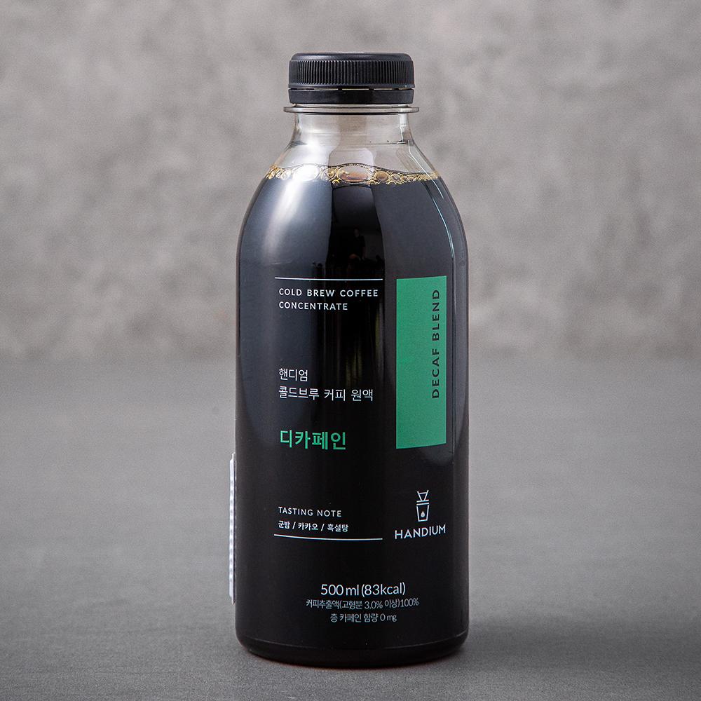 핸디엄 콜드브루 커피원액 디카페인 DECAF BLEND, 500ml, 1개