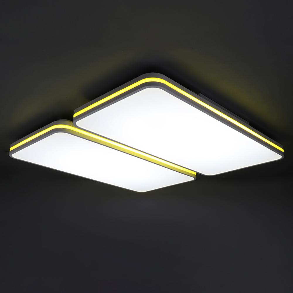 [LED 거실등] LED 스퀘오렌 거실 4등 120W, 화이트 - 랭킹31위 (77480원)