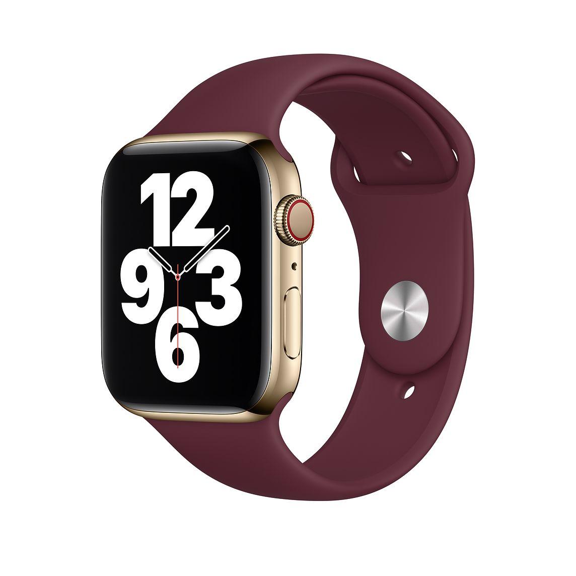 Apple 애플워치 3/6/SE Sport 밴드 Regular (42/44mm 호환 가능), Plum, 1개