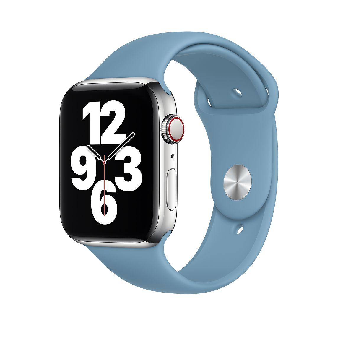 Apple 애플워치 3/6/SE Sport 밴드 Regular (42/44mm 호환 가능), Northern Blue, 1개