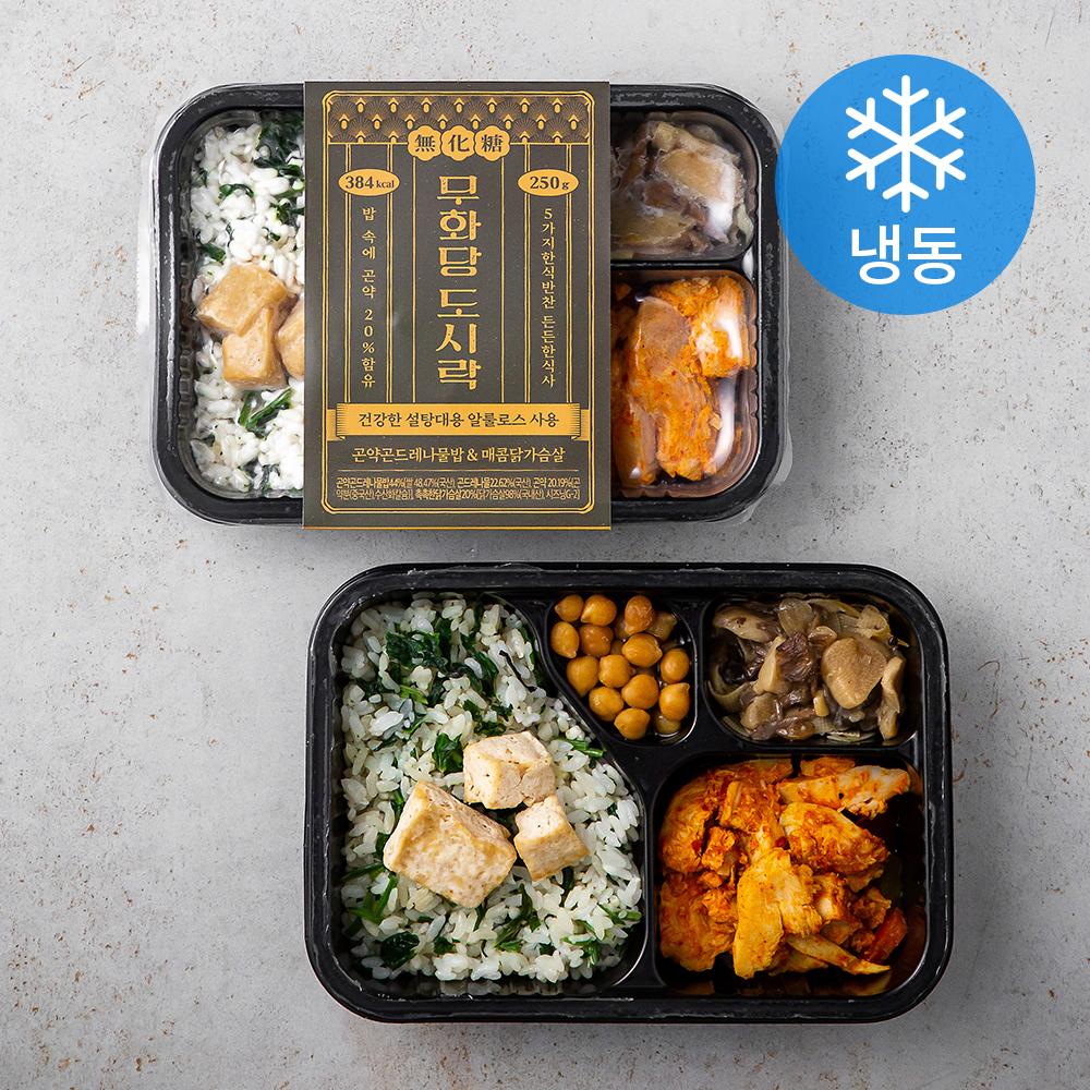 무화당 곤약 곤드레 나물밥 & 매콤 닭가슴살 (냉동), 250g, 2팩