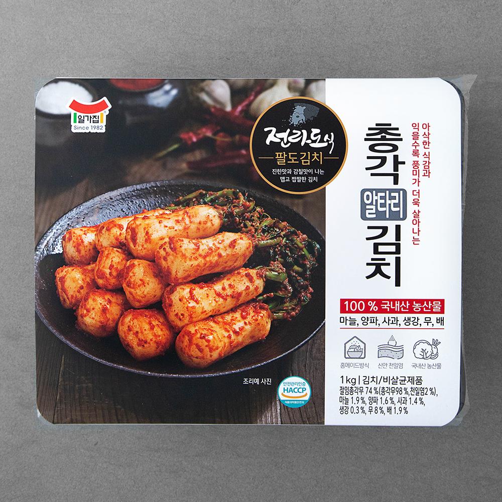 일가집 전라도식 총각 알타리 김치, 1kg, 1개