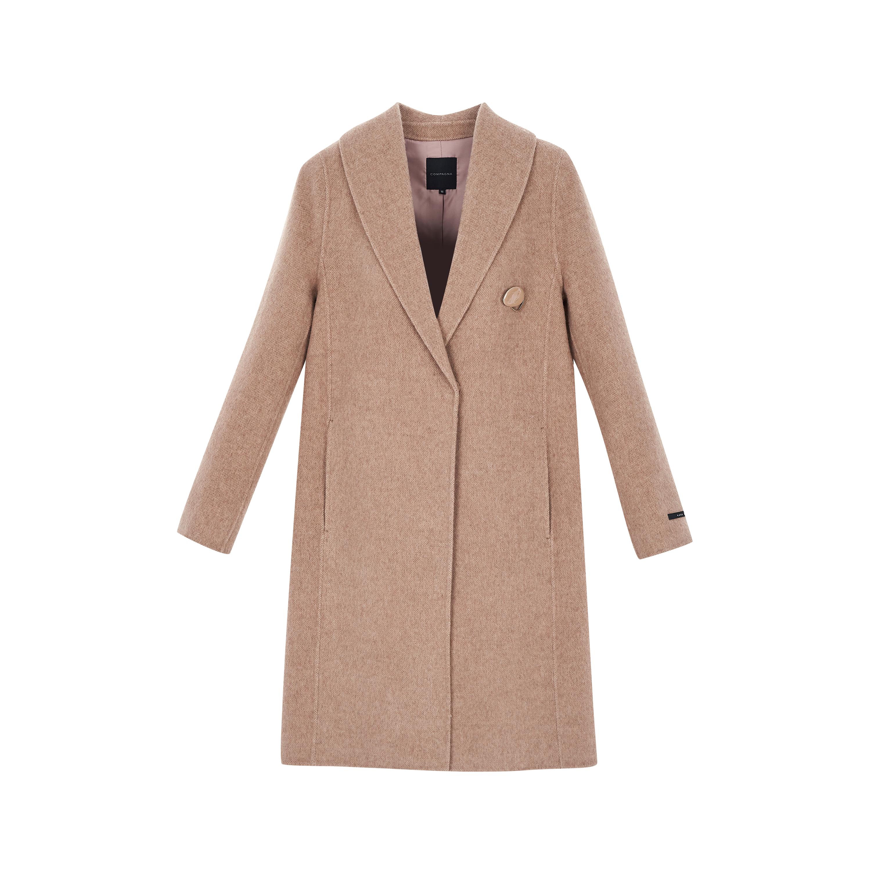 꼼빠니아 여성용 숄카라 핸드메이드 코트 CAAW0-WCH900