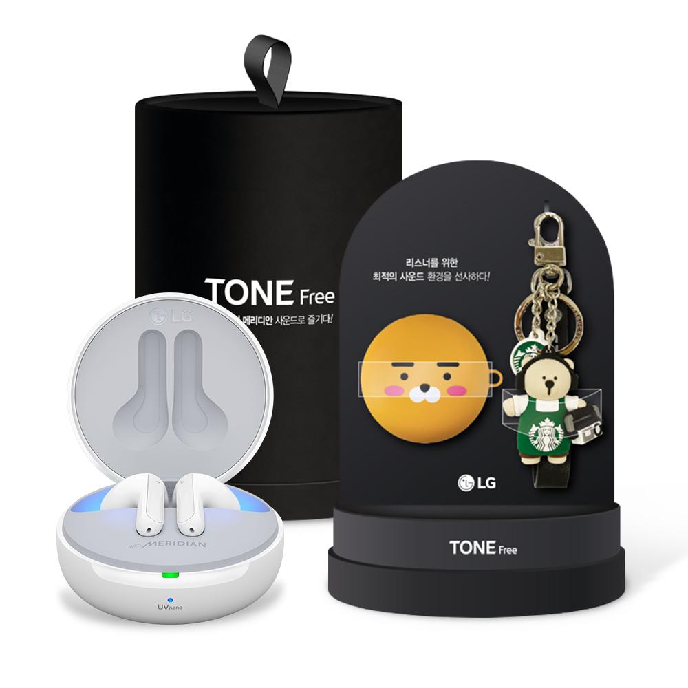 LG전자 톤프리 블루투스 이어폰 + 기프트 패키지, HBS-TFN7, 화이트(이어폰), 랜덤발송(기프트)