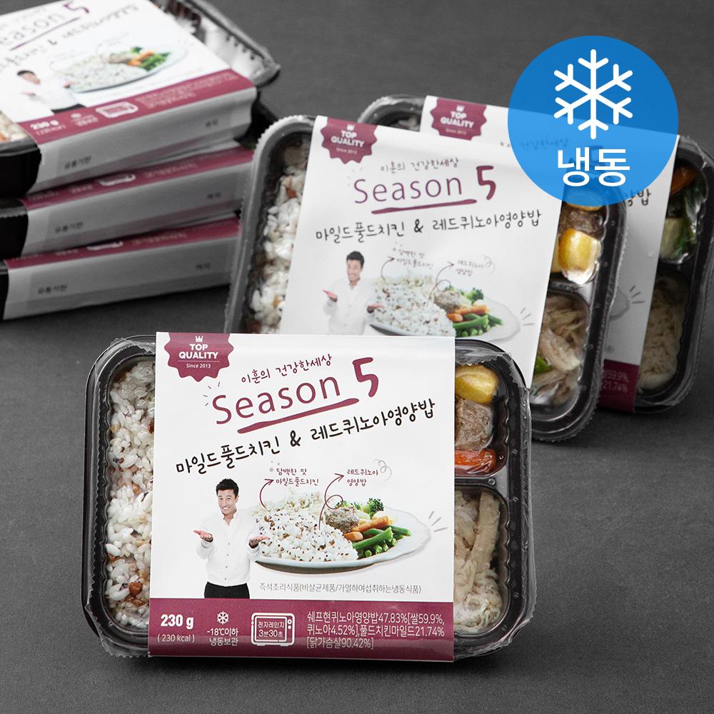[냉동 도시락] 이훈의건강한세상 마일드풀드치킨 앤 레드퀴노아 영양밥 도시락 (냉동), 230g, 6개 - 랭킹44위 (23400원)