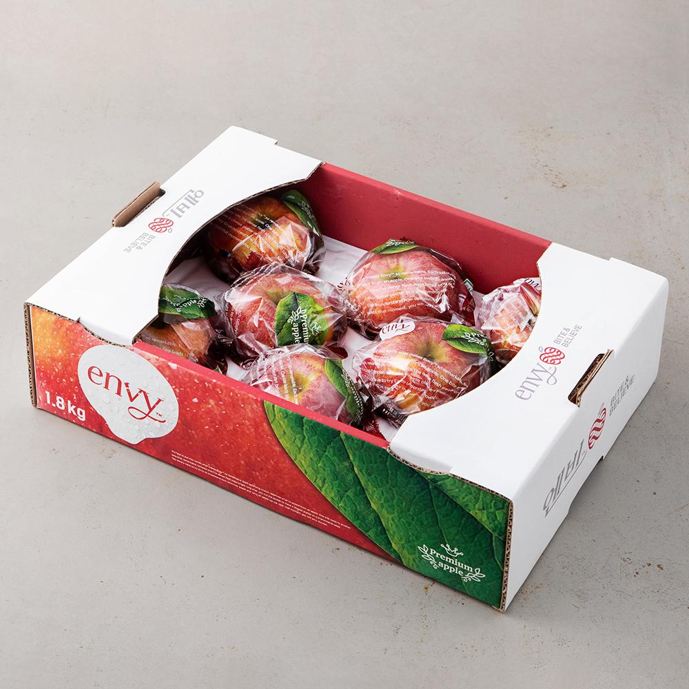 GAP 인증 당도선별 바로먹는 세척 엔비 사과, 1.8kg(8~9입), 1박스