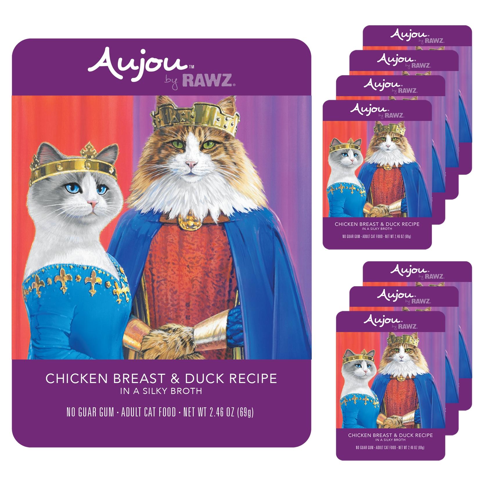 [주식 파우치] 오쥬바이로우즈 치킨가슴살 오리 고양이 주식파우치 8p, 닭, 69g - 랭킹56위 (25200원)