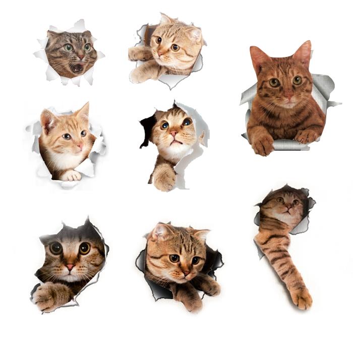 차즈마켓 3D입체 고양이 스티커 8종세트, 치즈냥, 악수냥, 꺼내냥, 귀엽냥, 애옹냥, 박력냥, 꼬마냥, 빼꼼냥