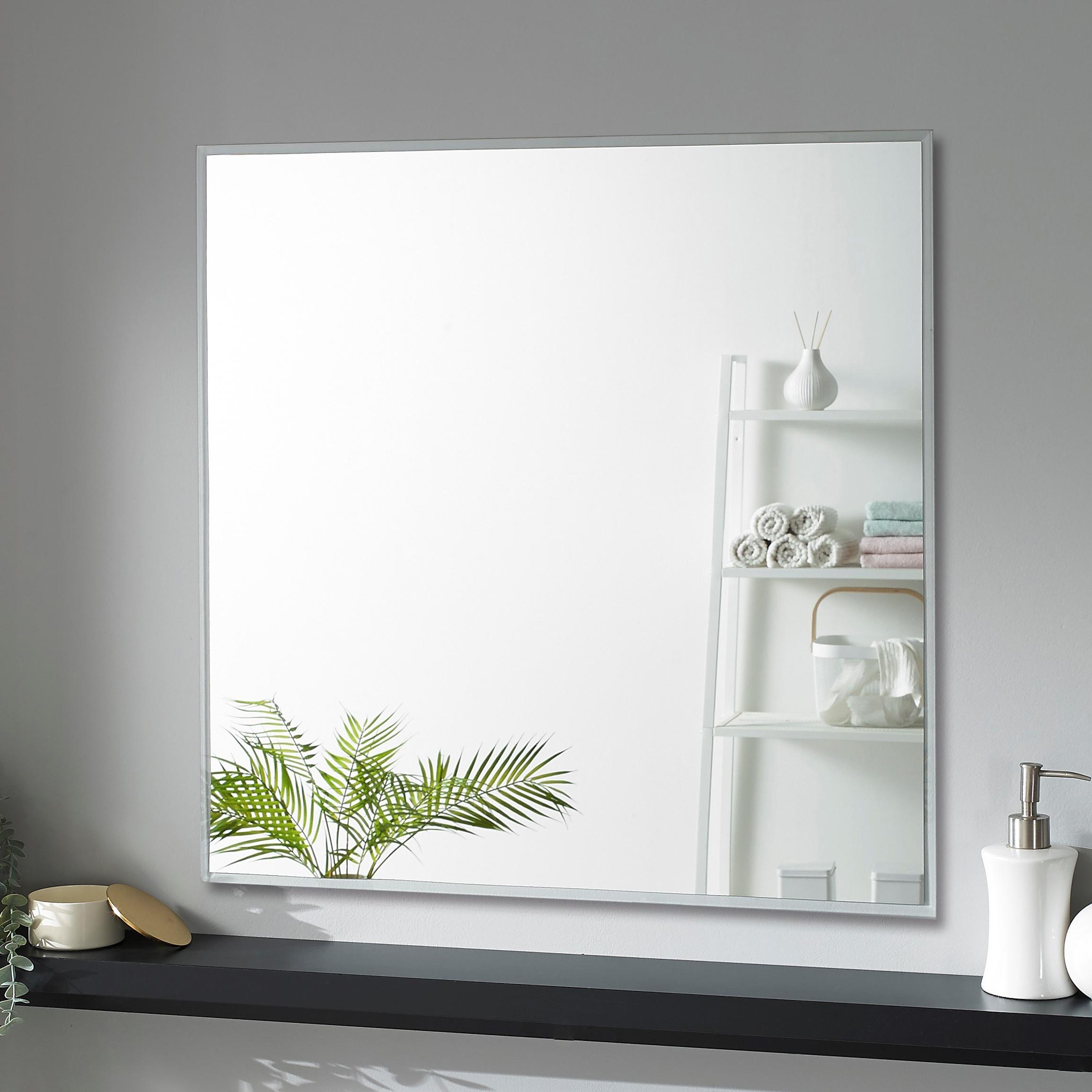 미소아이 욕실거울 600 × 600 mm, 투명