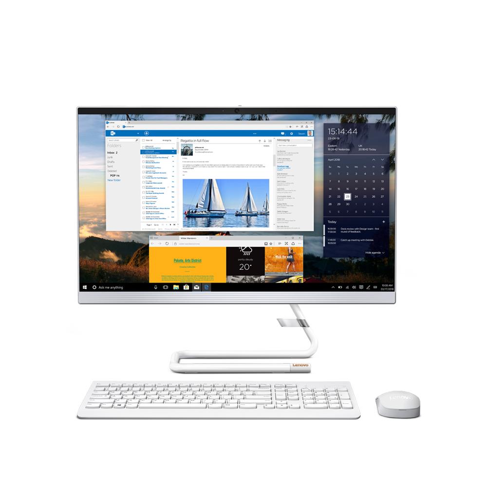 레노버 올인원 일체형PC White AIO3-24ARE F0EW006HKR (AMD R5-4500U 60.45cm), WIN10 Home, RAM 8GB, NVMe 256GB