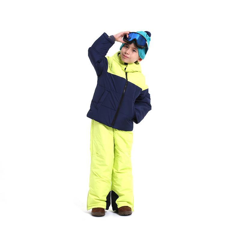 아동용 투톤 스키복세트