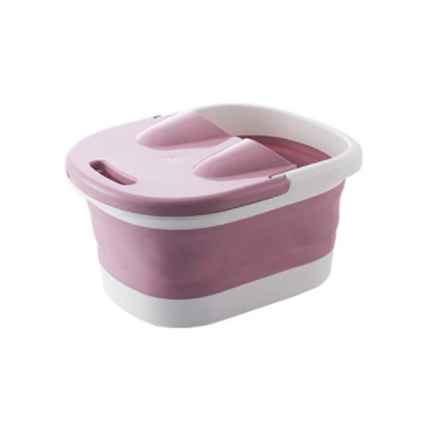 접이식 발마사지 족욕기 핑크, 1개