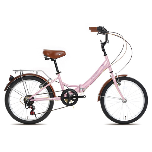 [미니벨로] 뮤트 아네사 20 미니벨로 접이식 자전거, 핑크 + 화이트, 1378mm - 랭킹6위 (153970원)