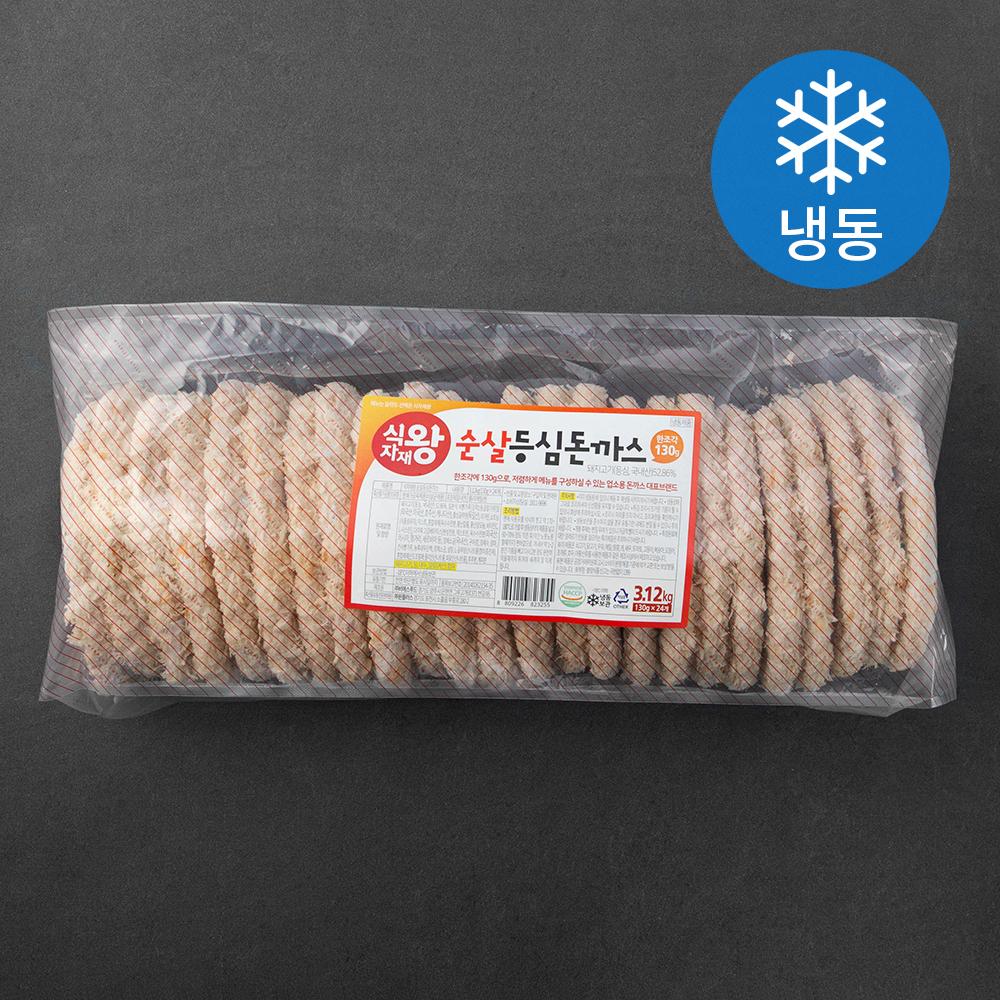 식자재왕 순살 등심돈까스 (냉동), 3.12kg, 1개