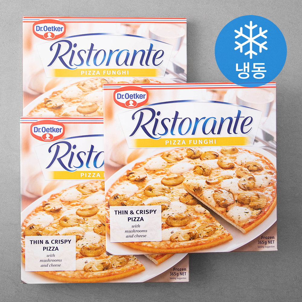 닥터오트커 리스토란테 양송이 버섯 피자 (냉동), 365g, 3입