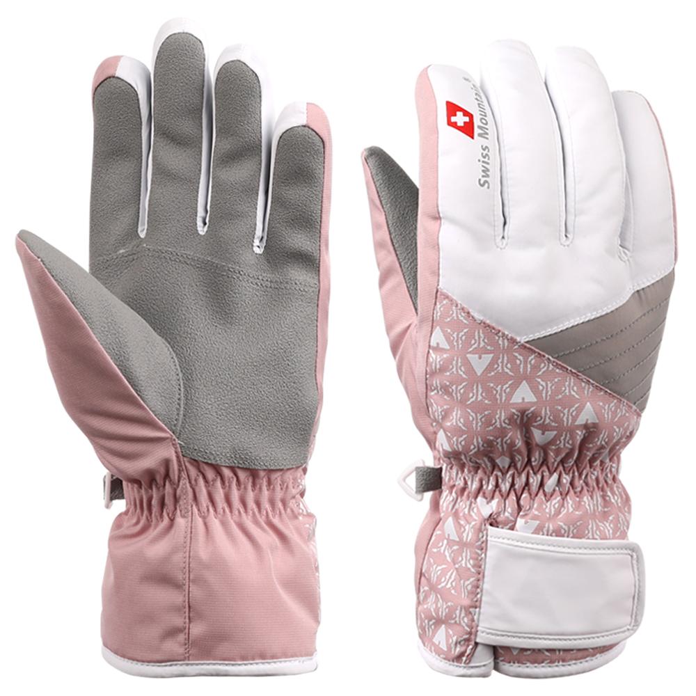 스위스마운틴 여성용 스키장갑 BC940, 핑크
