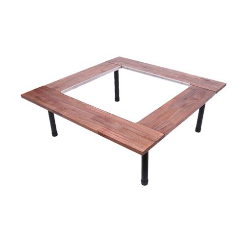 우드웍스 블랙 우드 화로대 테이블 중형, 혼합색상-17-4543932253
