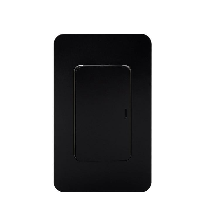 전등 스위치 커버 스위치 단로 1구 블랙, 1개