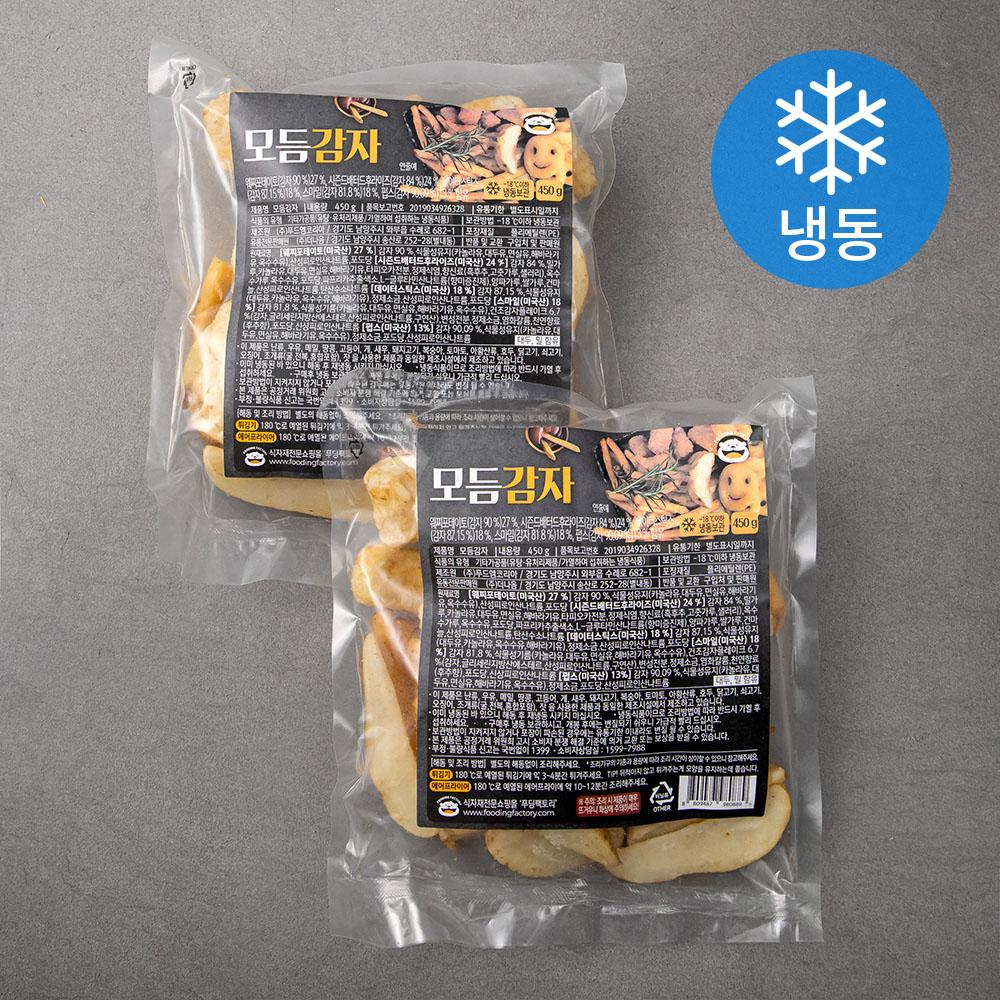 푸딩팩토리 모듬 감자튀김 (냉동), 450g, 2개