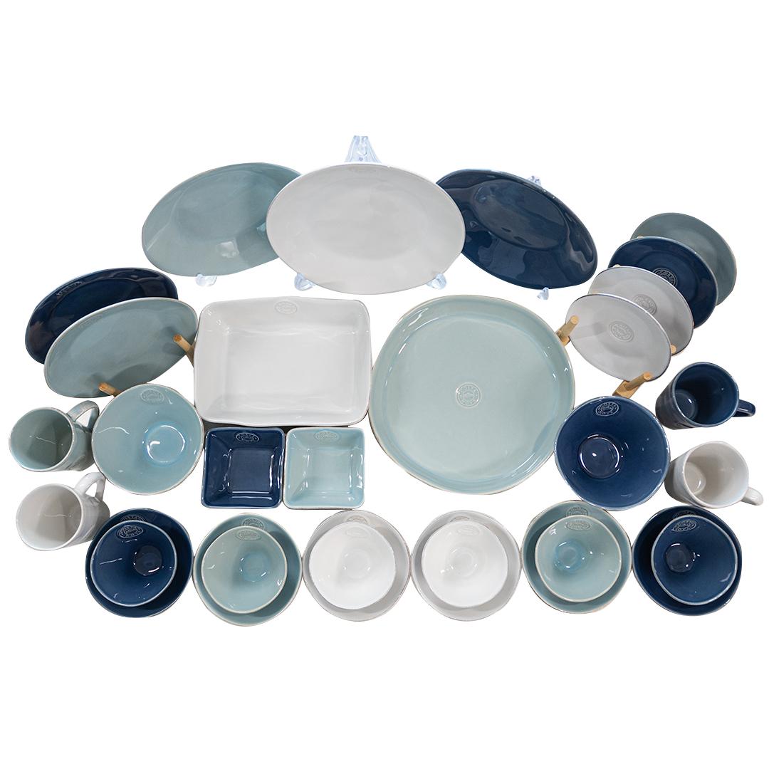 코스타노바 노바 6인 식기세트 31p, 화이트, 블루, 아쿠아