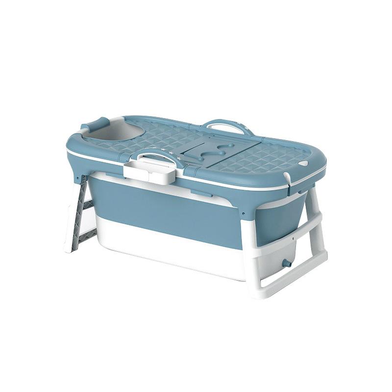 에스디엘 프리미엄 이동식 접이식 욕조 반신욕조 중형, 블루, 1개 (POP 4568035596)