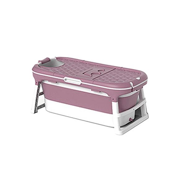 에스디엘 프리미엄 이동식 접이식 욕조 반신욕조 특대형, 핑크, 1개 (POP 4568035832)