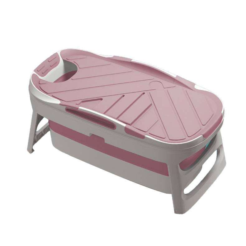 1인용 퍼스트 접이식 욕조 대형, 핑크, 1개
