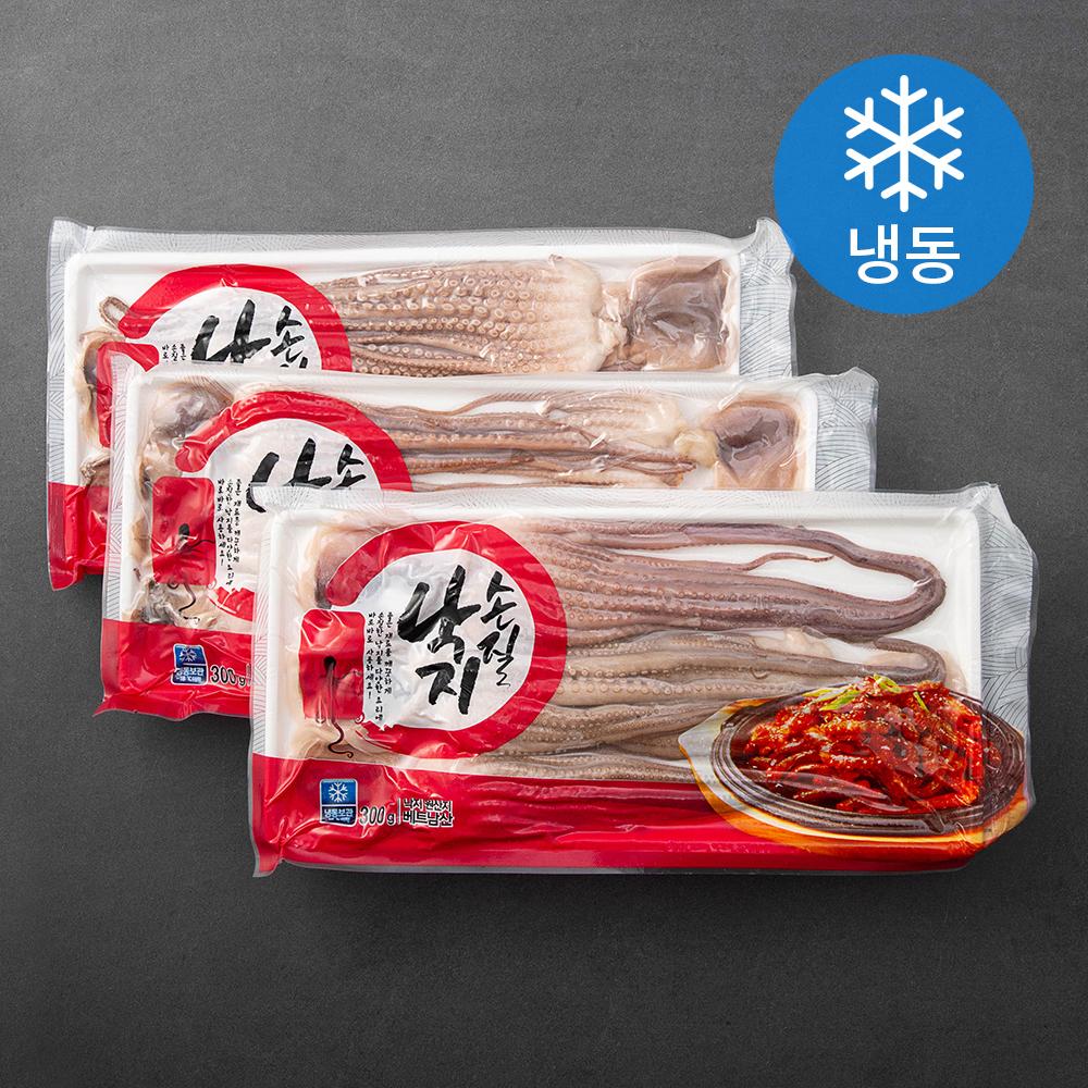 손질 낙지 (냉동), 300g, 3팩