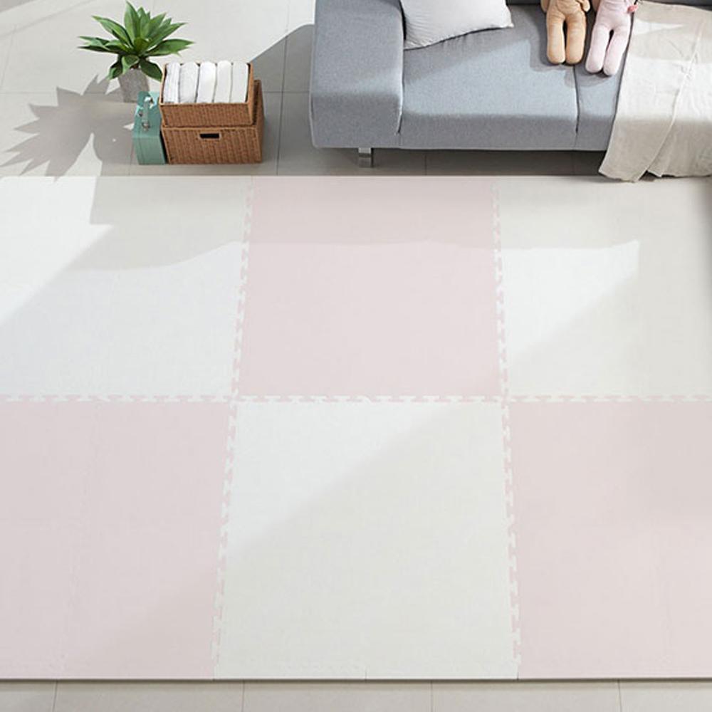 따사룸 더이쁨 EVA 퍼즐 매트 B타입 50cm x 50cm x 25mm, 벚꽃 핑크, 16p-4-4690819314