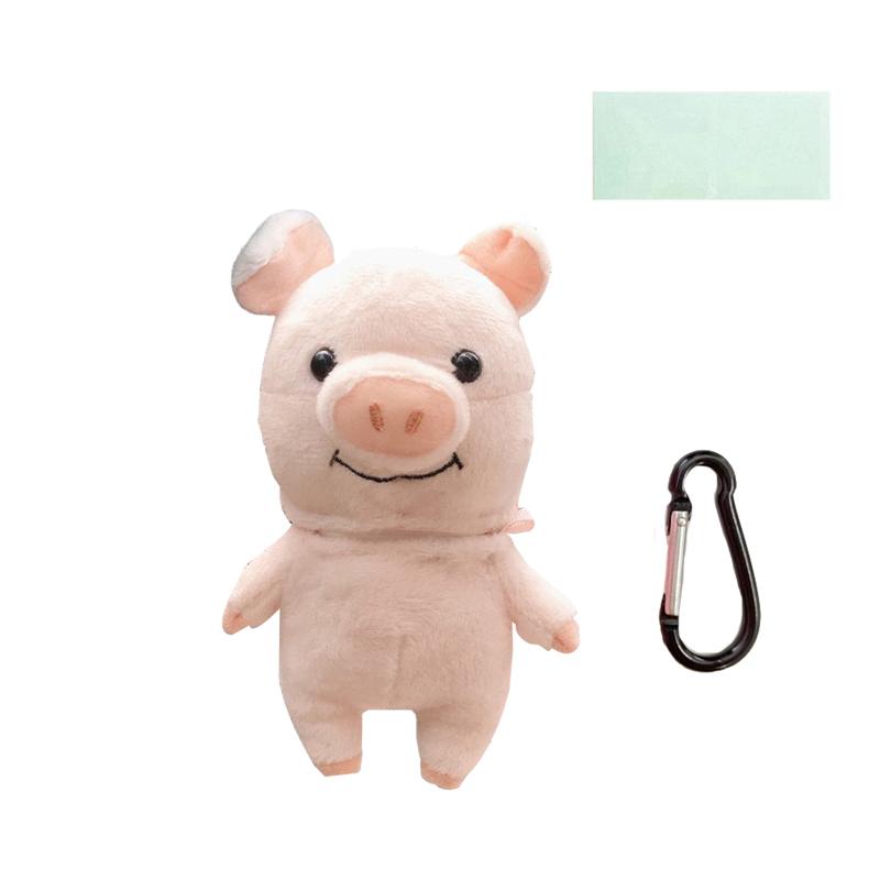 돼지인형 에어팟 케이스 3세대 Pro + 카라비너 + 보호필름, 혼합색상