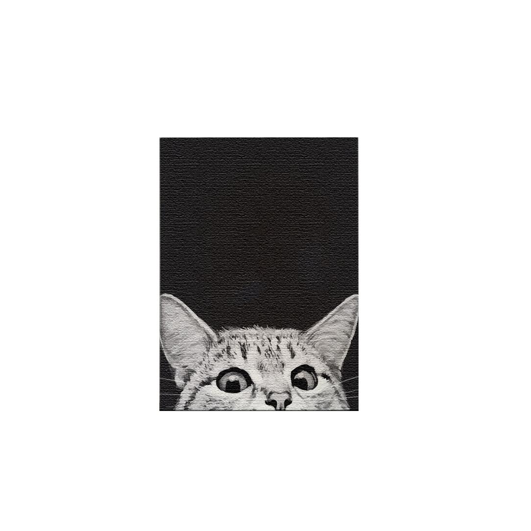 플레이어바웃 DIY 명화 그리기 세트 40 x 50 cm, 궁금한 고양이 블랙