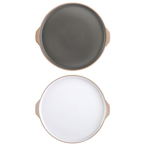 [플레이팅접시] 로얄베일 라포레 메인플레이팅 접시 2종 세트 30cm, 1세트, 스노우화이트 + 스톤그레이 - 랭킹8위 (24900원)