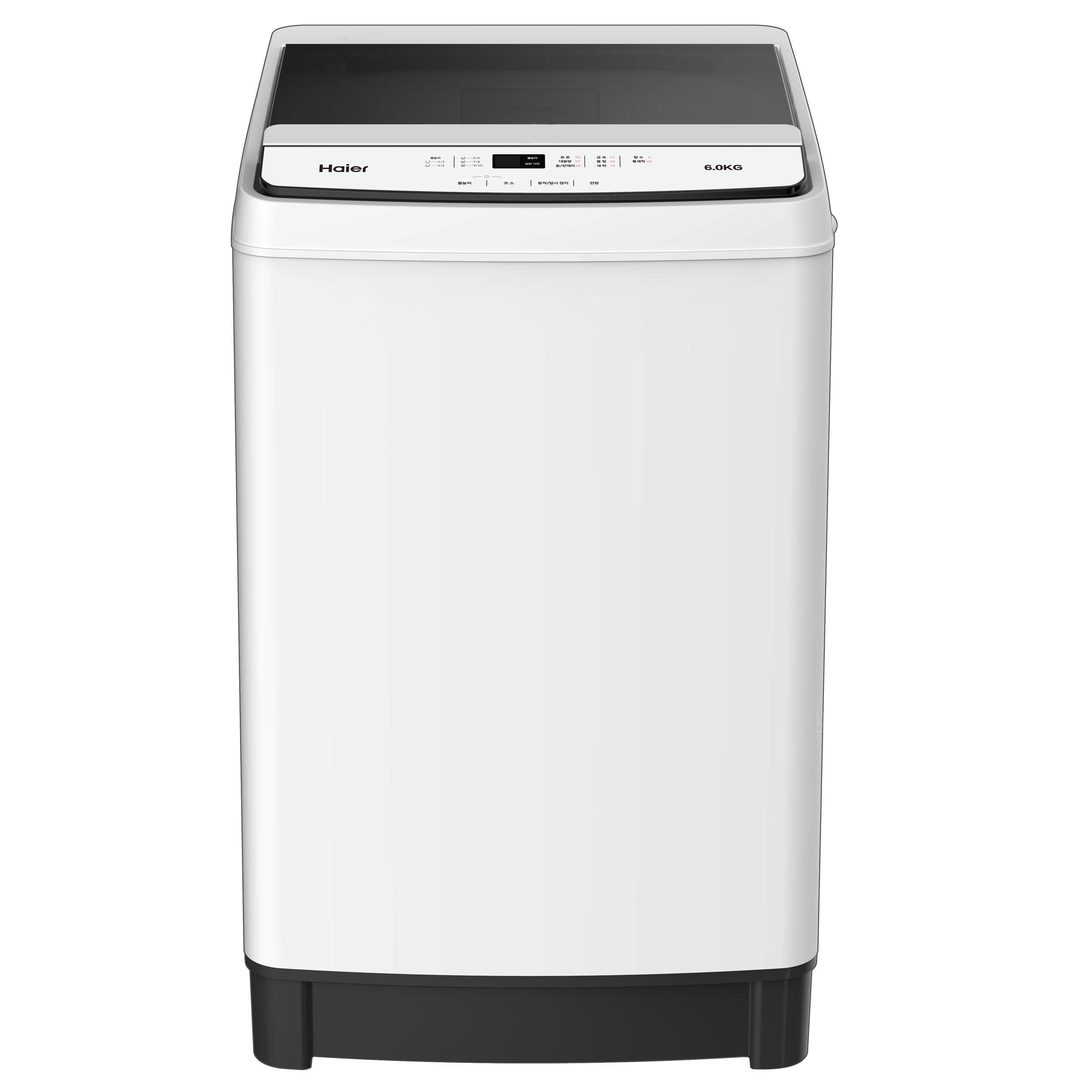 하이얼 미니 소형 일반 1등급 통돌이 세탁기 퓨어화이트 HWMW9J60MW 6kg 방문설치