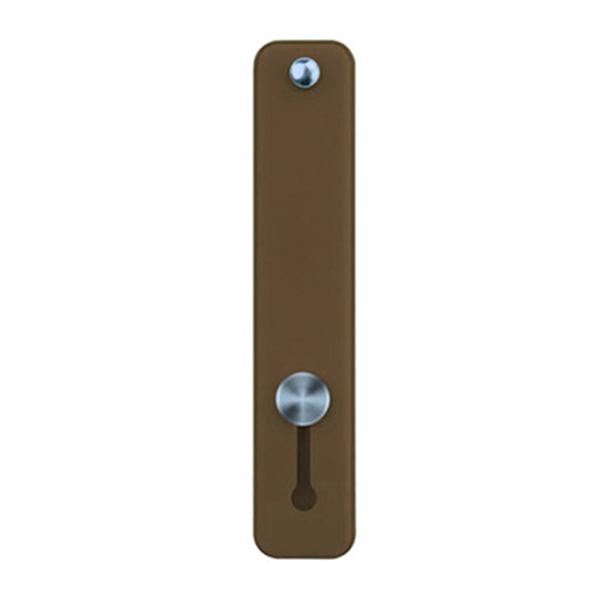 파스텔톤 접착형 휴대폰 핑거 스트랩, 브라운, 1개