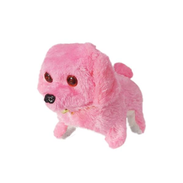 파피앙 움직이는 강아지 작동인형 + 건전지, 12cm, 핑크(PP2)
