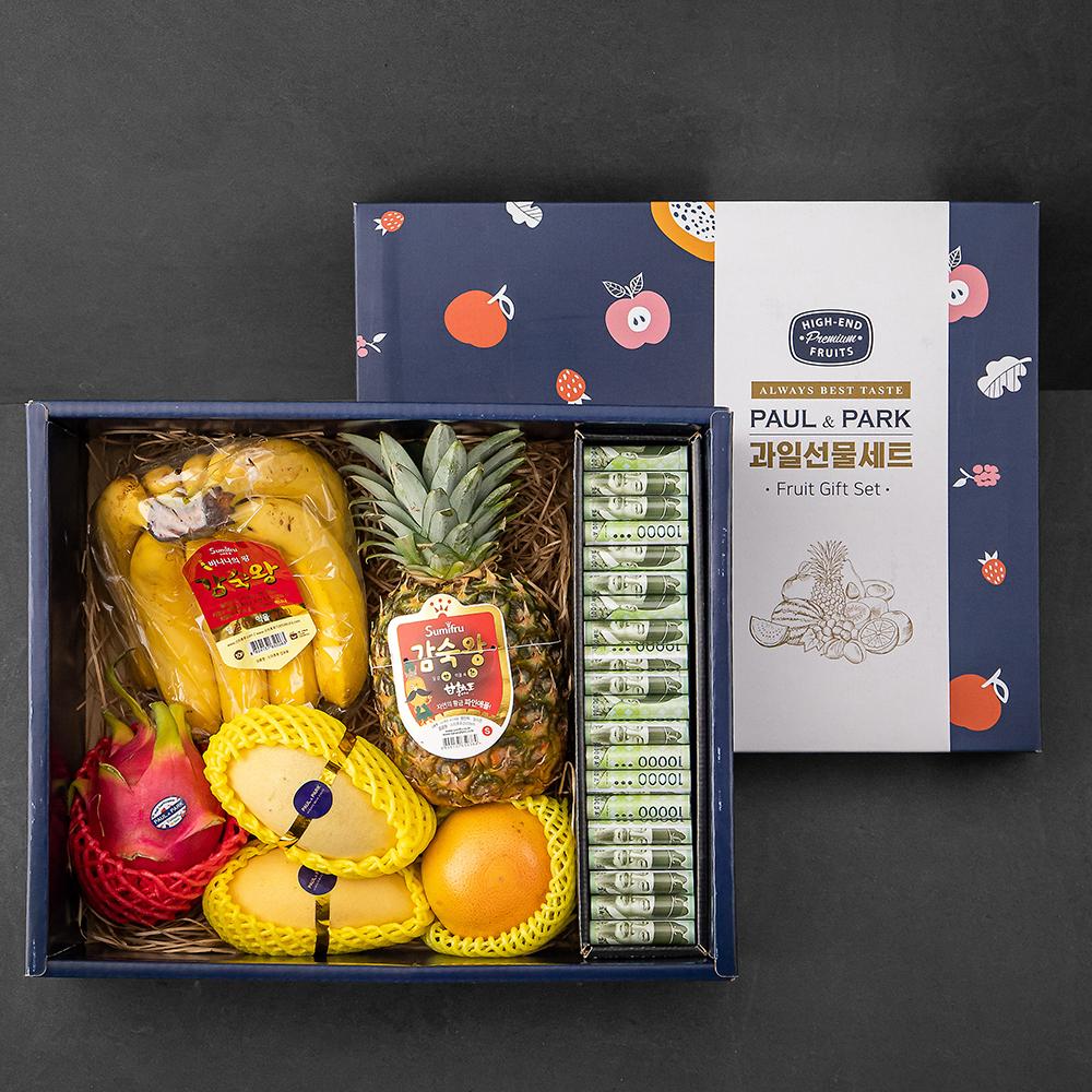 폴앤박 용돈박스 과일선물세트, 1세트