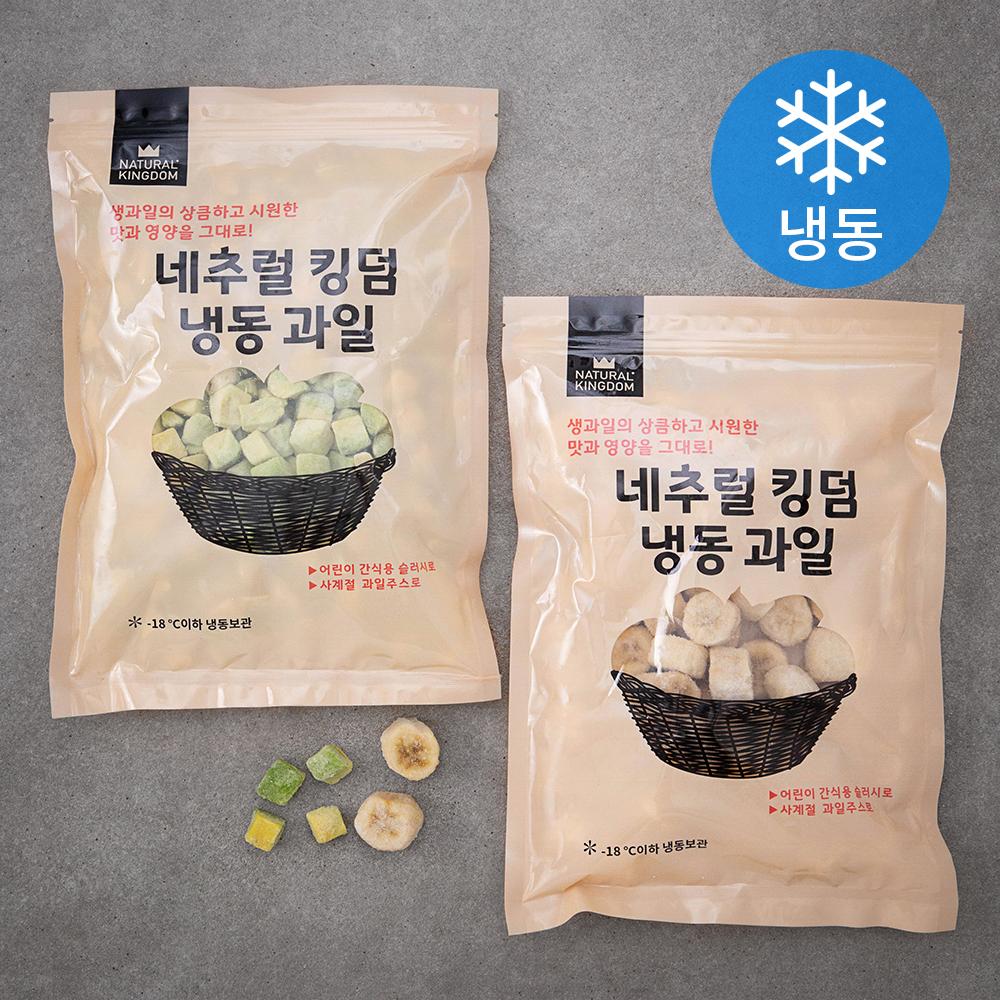 네추럴킹덤 아보카도 800g + 바나나 800g (냉동), 1세트