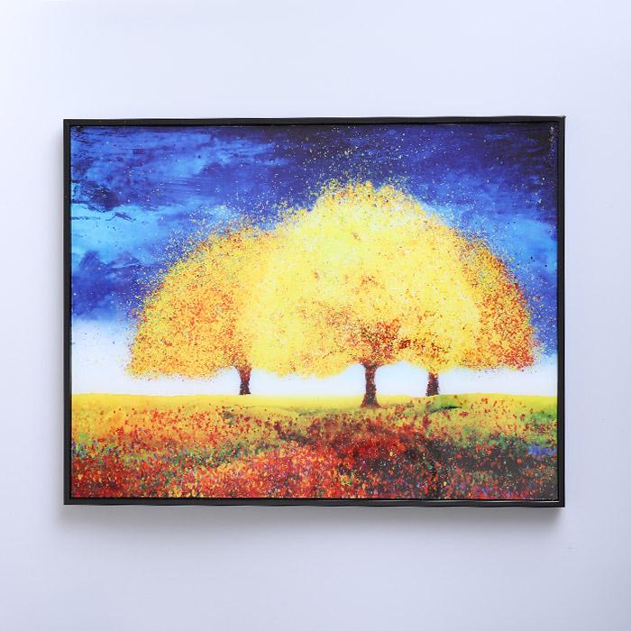 금전운 풍수 인테리어 액자 황금나무