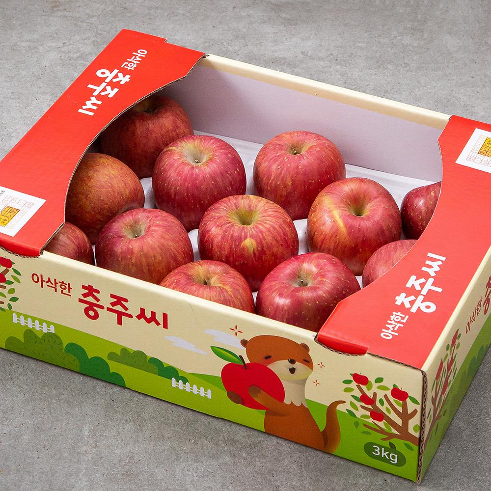 아삭한 충주씨 당도선별 사과, 3kg(10~16입), 1개