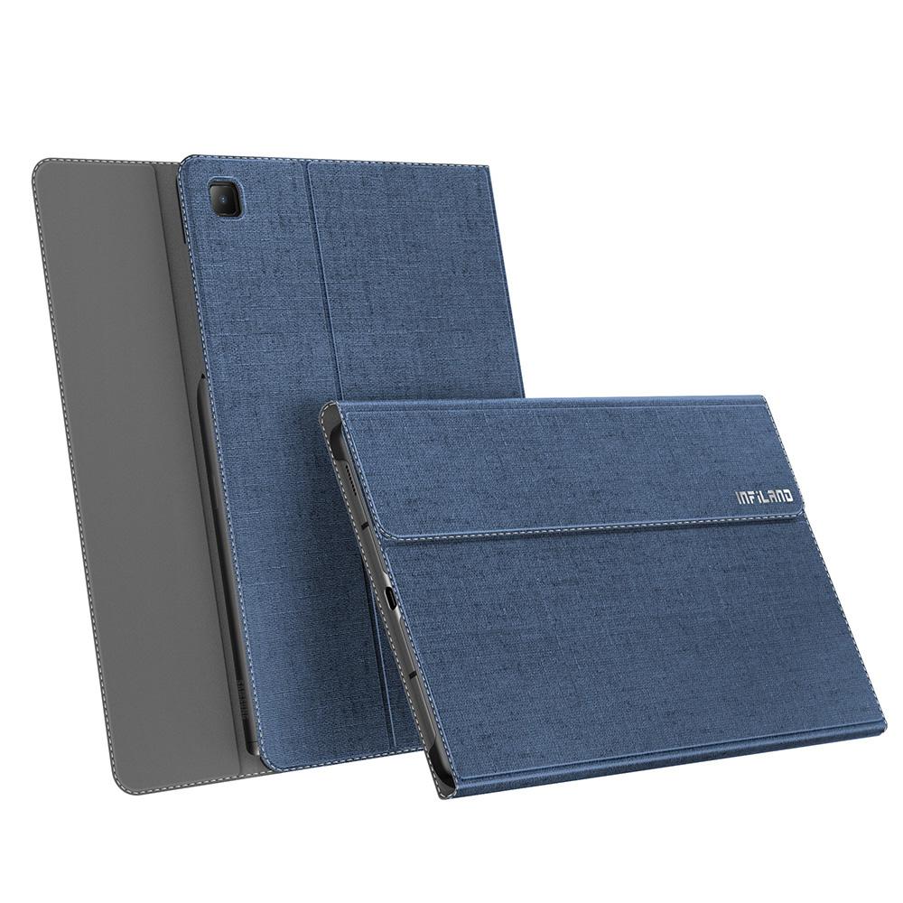 S펜 수납 북커버 스탠드 태블릿 PC 케이스, 블루-9-4704423991