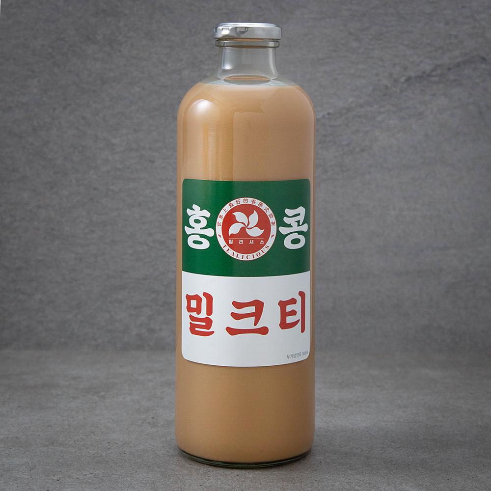 홍콩 다크 수제 밀크티, 1L, 1개