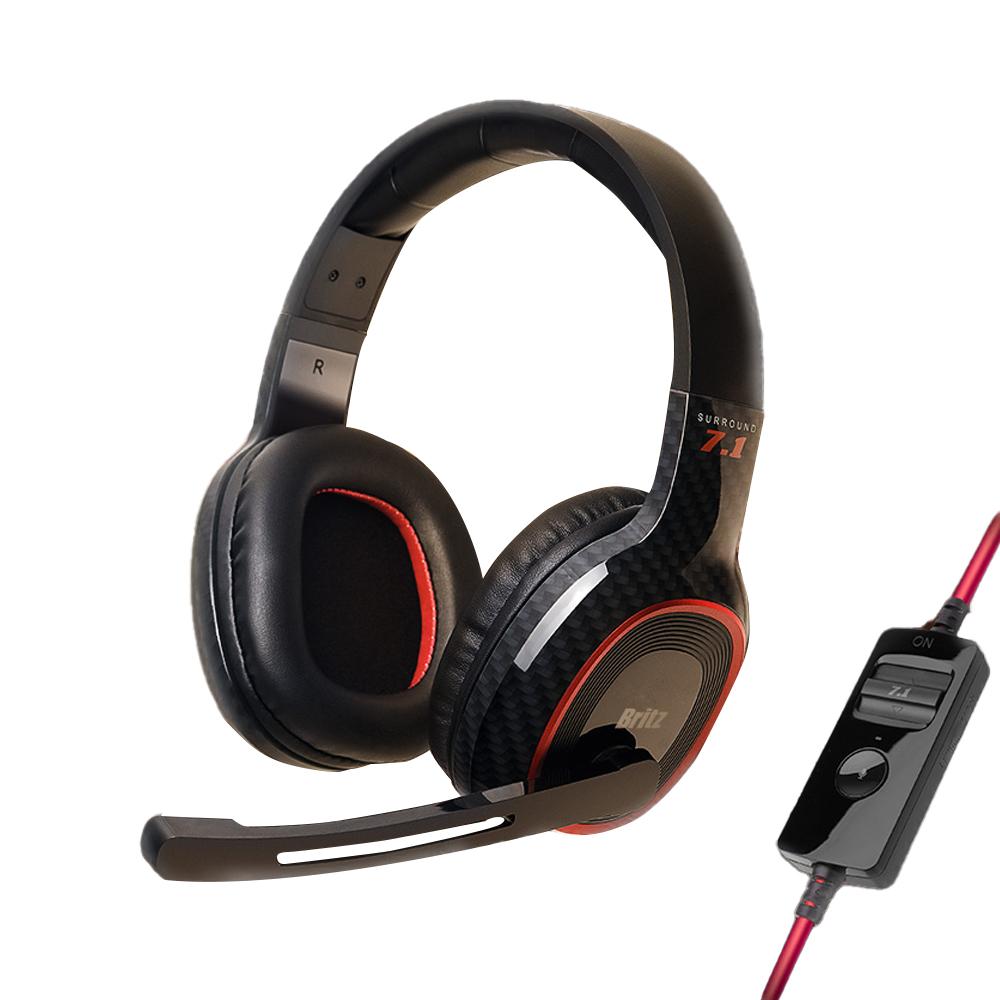 브리츠 ENC Plus 7.1채널 노이즈 캔슬링 유선 컨트롤러 게이밍 헤드셋, KG20-10-4712859426