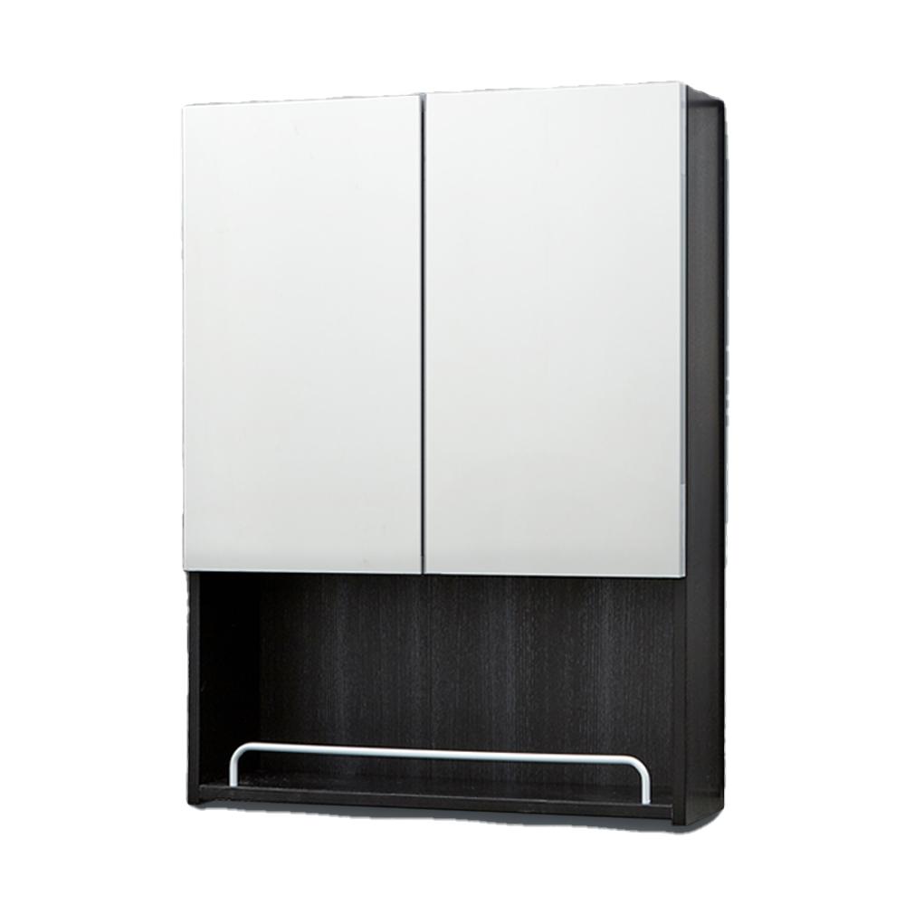 모카바스 누드 오픈 욕실 수납장 500 x 800 x 170 mm, 블랙, 1개